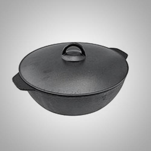 Сковорода чугунная с алюминиевой крышкой 240/70-2-КАл