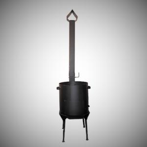 Печь с дымоходом для казана на 10 л