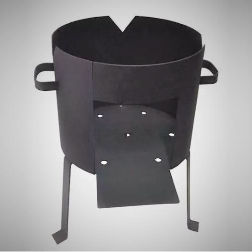 Печь без дымохода для казана на 12 л