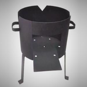 Печь без дымохода для казана на 8 л
